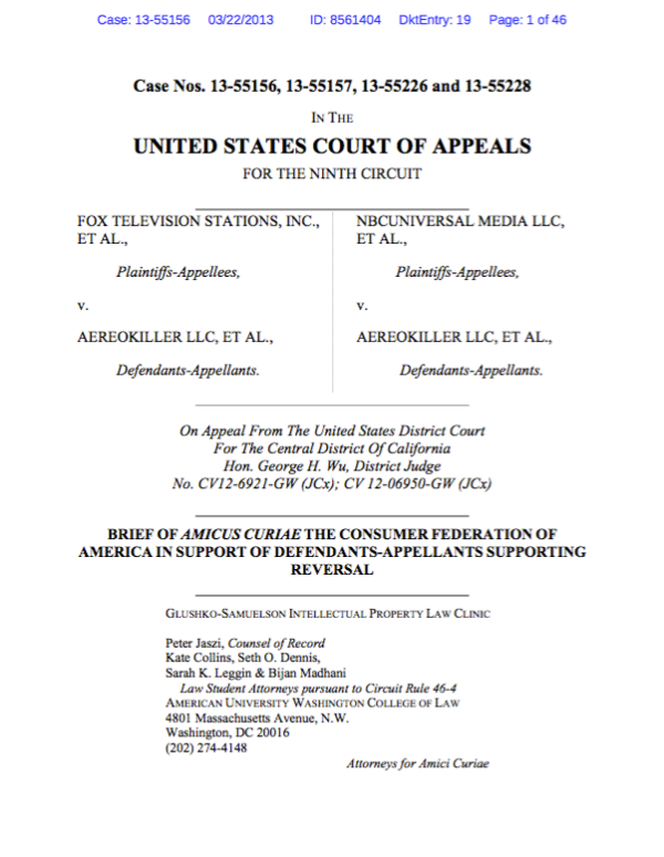Fox Television Stations, Inc. v. AereoKiller LLC