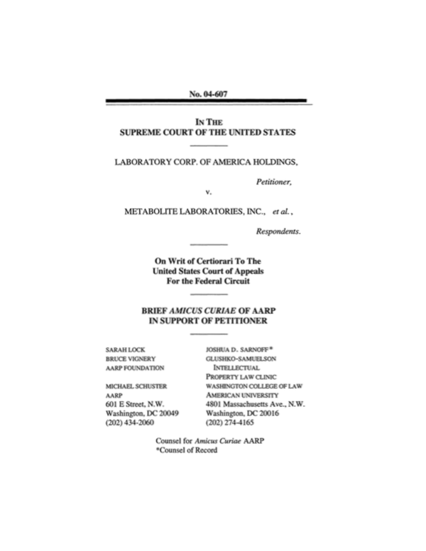 LabCorp v. Metabolite Corp.