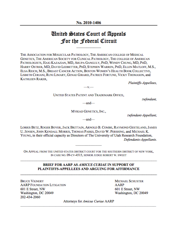 AARP v. Myriad Genetics, Inc.