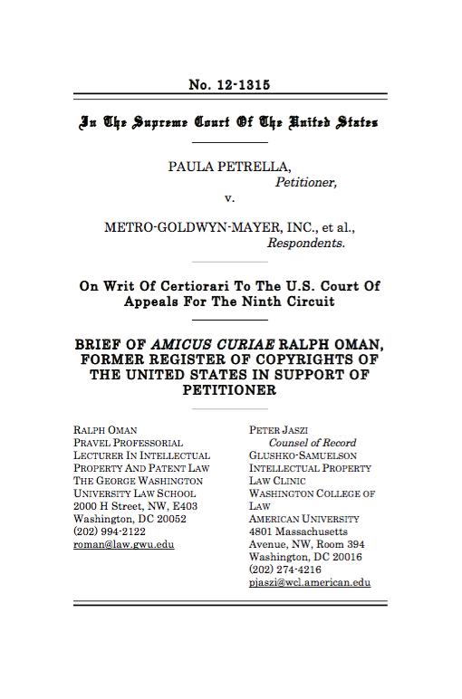 Paula Petrella v. Metro-Goldwyn-Mayer, Inc.